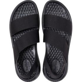 Crocs LiteRide Stretch Sandals Women, black/black